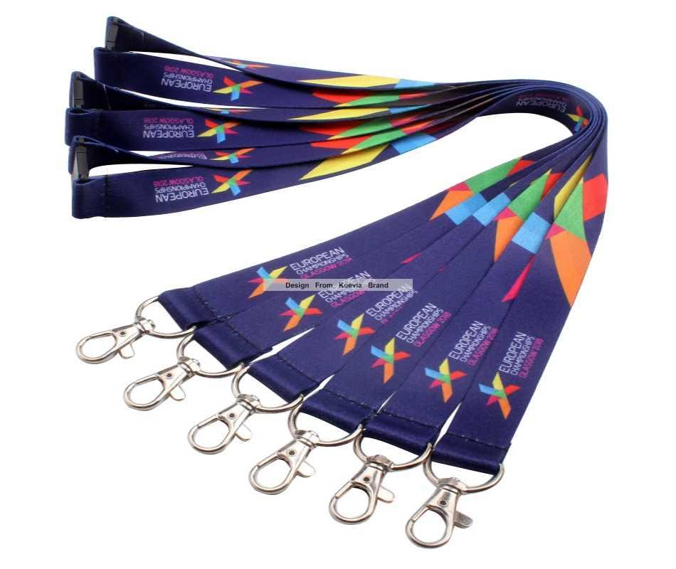 Collarines para credenciales con logotipo.